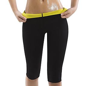 cheap Yoga & Fitness-Body Shaper Slimming Pants Capris Leggings Sports Neoprene Yoga Exercise & Fitness Bikram Stretchy Hot Sweat Tummy Control Weight Loss Tummy Fat Burner For Women's Men's Leg Abdomen Training