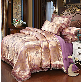 cheap High Quality Duvet Covers-Duvet Cover Sets Luxury Polyster Printed & Jacquard 4 PieceBedding Set With Pillowcase Bed Linen Sheet Single Double Queen King Size Quilt