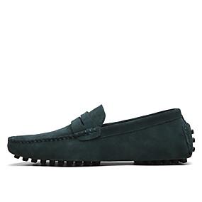 levne Větší obuv-Pánské Společenské boty Semiš Jaro / Léto Nokasíny Černá / Fialová / Světle modrá / Venkovní / Kancelář a kariéra / Suede Shoes / EU40
