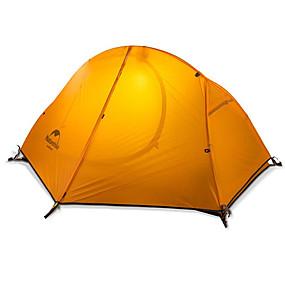 preiswerte Naturehike®-Naturehike 1 Person Zelte für Rucksackreisen Außen Regendicht warm halten Klappbar Doppellagig Stange Dom Camping Zelt >3000 mm für Camping & Wandern Jagd Silikon Nylon 205*156*110 cm