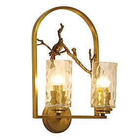 저렴한 벽 스콘-zhishu 미니 스타일 티파니 간단한 벽 램프 및 sconces 거실 침실 식당 금속 벽 빛 110-120v 220-240v 5 w