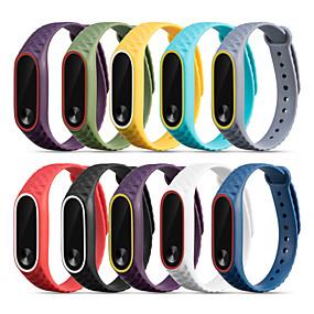 preiswerte Smartwatch-Bands-Uhrenarmband für Mi Band 2 Xiaomi Sport Band Silikon Handschlaufe