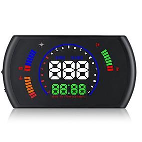 preiswerte Frontscheiben-Anzeigen-S600 Mit Kabel Kopf hoch Anzeige Neues Design / Nachtsicht / 360 ° Überwachung für Auto Fahrgeschwindigkeit / Anzeige KM / h MPH /