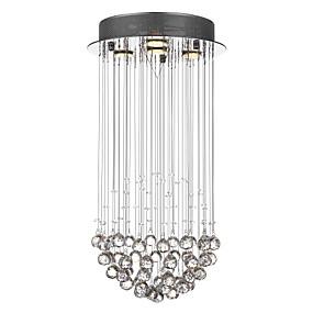 povoljno Viseća rasvjeta-SL® 4-Light Privjesak Svjetla Ambient Light Chrome Metal Crystal 110-120V / 220-240V / GU10