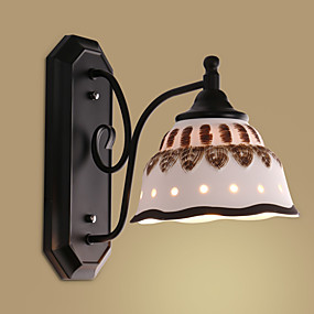 cheap Outdoor Wall Lights-Retro Vintage / Novelty Wall Lamps & Sconces Dining Room / Indoor / Shops / Cafes Metal Wall Light IP44 220-240V 40 W / E26 / E27