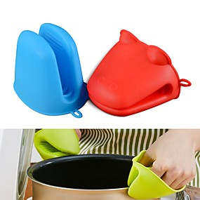 cheap novelty kitchen tools-Hippo Frog Shape Silicone Insulated Gloves Oven Mitt Heat Resistant