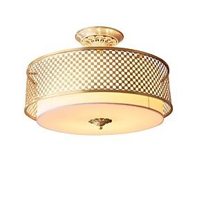 cheap Ceiling Lights & Fans-QIHengZhaoMing 4-Light 40 cm Flush Mount Lights Metal Brass Modern 110-120V / 220-240V