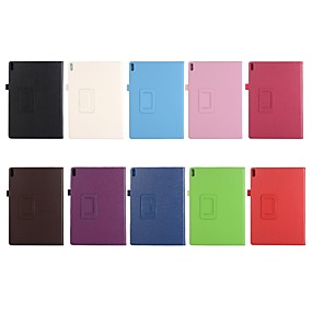 cheap Other Case-Case For Lenovo Lenovo Tab 4 10 Plus / Lenovo Tab 4 10 with Stand / Flip Full Body Cases Solid Colored Hard PU Leather