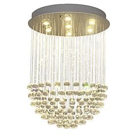 povoljno Viseća rasvjeta-QIHengZhaoMing 7-Light Privjesak Svjetla Ambient Light Brass Crystal 110-120V / 220-240V Meleg fehér Bulb Included / GU10