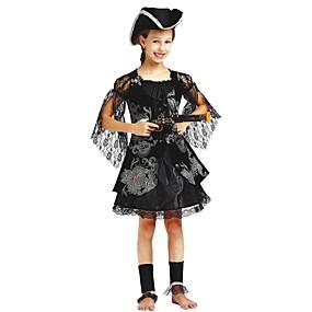 preiswerte Be a Viking!-Seeräuber Kostüm Kinder Mädchen Halloween Halloween Karneval Kindertag Fest / Feiertage Polyester Schwarz Karneval Kostüme Solide Halloween