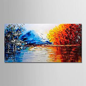 povoljno Slike za cvjetnim/biljnim motivima-Hang oslikana uljanim bojama Ručno oslikana - Sažetak Mrtva priroda Moderna Uključi Unutarnji okvir / Prošireni platno