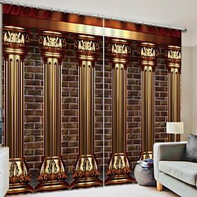 preiswerte 3D Vorhänge-Verdunkelungsvorhänge 3d zwei Platten für Schlafzimmer
