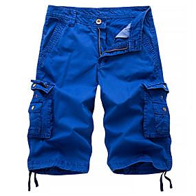 preiswerte 2019 Shorts-Herrn Street Schick / Militär Ausgehen Chinos / Kurze Hosen / Frachthosen Hose - Solide Schwarz Blau Rote 30 31 32
