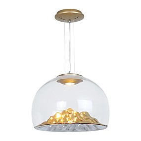 povoljno Viseća rasvjeta-QIHengZhaoMing preokrenut Privjesak Svjetla Ambient Light Electroplated Metal Glass 110-120V / 220-240V Meleg fehér Bulb Included / Integrirano LED svjetlo