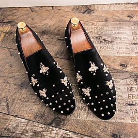 voordelige Wijdere maten schoenen-Heren Formele Schoenen Suède Herfst winter Loafers & Slip-Ons Zwart / Rood / Bruiloft / Feesten & Uitgaan / Bruiloft / Feesten & Uitgaan