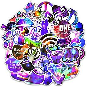 billige Tilbehør til eksteriør-ziqiao 100pcs blandet galakse klistremerke stjerner drøm anime tegneserie klistremerker for diy bagasje laptop skateboard bil motorsykkel sykkel klistremerker
