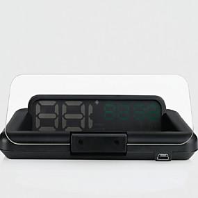 preiswerte Frontscheiben-Anzeigen-INFOS T900 4.3 Zoll Anolog Display 420 TVL 1208 x 1208 CMOS-Sensor Mit Kabel 60° 10 pcs 60/ 15 ° 90*203.6 Zoll Kopf hoch Anzeige Plug-and-Play / Nachtsicht für Auto Fahrgeschwindigkeit messen