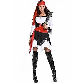 preiswerte Be a Viking!-Piraten der Karibik Seeräuber Cosplay Kostüme Kopfbedeckung Cosplay Halloween Halloween Karneval Fest / Feiertage Schwarz Karneval Kostüme Patchwork