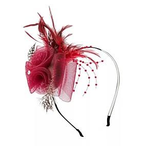 preiswerte Party-Feder / Netz Stirnbänder / Blumen mit Feder 1pc Hochzeit / Besondere Anlässe Kopfschmuck