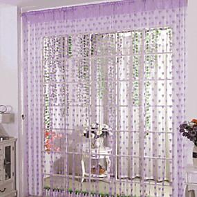 preiswerte Türverkleidungen-Türverkleidung Gardinen Vorhänge Wohnzimmer Geometrisch Baumwolle / Polyester Reaktivdruck
