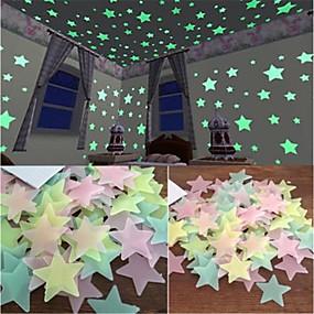 preiswerte Haus & Garten-Lichtschalter Sticker - Flugzeug-Wand Sticker / Leuchtende Wand Sticker Halloween / Feiertage Drinnen / Kinderzimmer