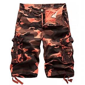 preiswerte 2019 Shorts-Herrn Aktiv / Grundlegend / Militär Strand Kurze Hosen / Frachthosen Hose - camuflaje Purpur Blau Rote 29 30 31