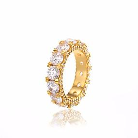 billige Vintage Ring-Par Ring Kubisk Zirkonium 1pc Gull Sølv Kobber Sirkelformet damer Klassisk Vintage Daglig Stevnemøte Smykker Klassisk Elegant Dyrebar Fred