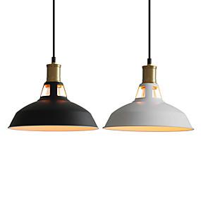 povoljno Lámpatestek-promjer 27cm vintage privjesak svjetla 1-svjetlo metalni sjenik dnevni boravak blagovaonica hodnik osvjetljenje