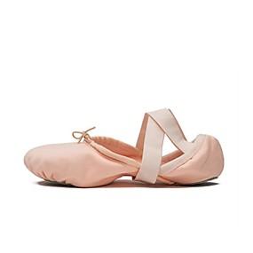 preiswerte Tanzschuhe Klassische Kollektion-Damen Tanzschuhe Elastisches Gewebe Balletschuhe Sneaker Flacher Absatz Orange / Rosa / Leistung / Praxis