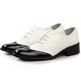 levne Větší obuv-Pánské PU Léto Pohodlné Oxfordské Žlutá / Červená / Černobílá