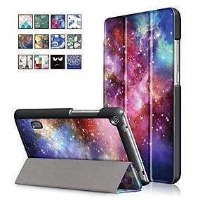 povoljno Maske za mobitele-Θήκη Za Huawei Huawei MediaPad T3 7.0 sa stalkom / S magnetom Korice Uljane slike Tvrdo PU koža