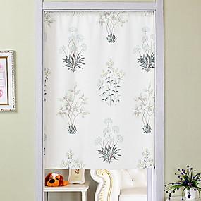 preiswerte Türverkleidungen-Türverkleidung Gardinen Vorhänge Wohnzimmer Blumen Baumwolle / Polyester Bedruckt