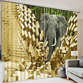 preiswerte Vorhänge und Gardinen-Verdunkelungsvorhänge 3d zwei Platten für Schlafzimmer