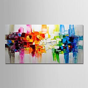 povoljno Slike za cvjetnim/biljnim motivima-Hang oslikana uljanim bojama Ručno oslikana - Sažetak Pejzaž Moderna Bez unutrašnje Frame / Valjani platno
