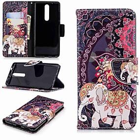povoljno Maske za mobitele-Θήκη Za Nokia Nokia 5 / Nokia 3 / Nokia 2.1 Novčanik / Utor za kartice / sa stalkom Korice Slon Tvrdo PU koža