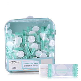 cheap Skin Care-100 pcs Portable Professional Pro Round Nonwoven Fabric Blemish Tools Makeup Cotton Pad Powder Puff Moisturizing Natural Beauty Cosmetic Puff For Nursing Daily Trendy High Quality Daily Wear Daily