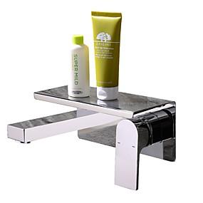 preiswerte Badarmaturen-Waschbecken Wasserhahn - Verbreitete / Neues Design Chrom Wandmontage Einhand Ein LochBath Taps