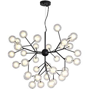 cheap Chandeliers-80 cm Creative Chandelier Metal Glass Sputnik Painted Finishes Artistic Globe 110-120V 220-240V