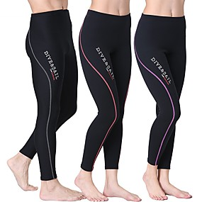 cheap Exercise, Fitness & Yoga-Dive&Sail Women's Wetsuit Pants 1.5mm Nylon Neoprene Bottoms Thermal Warm UV Sun Protection Anatomic Design Diving Surfing Snorkeling Autumn / Fall Summer / Stretchy