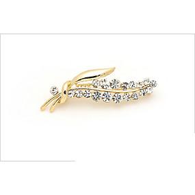 povoljno Nakit za vjenčanje i izlaske-Žene Broševi Sa stilom Leaf Shape slatko Moda Broš Jewelry Zlato Za Spoj Ured i karijera