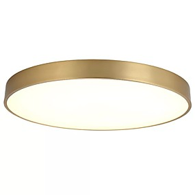 povoljno Lámpatestek-QIHengZhaoMing Flush Mount Ambient Light Brass Metal 110-120V / 220-240V Meleg fehér Bulb Included / Integrirano LED svjetlo