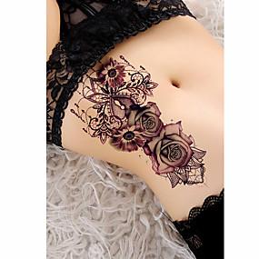 halpa Siirtotatuoinnit-3 kpl väliaikaisia tatuointeja ruusu tatuointeja tatuointi malleja trendi sileä tarra vedenkestävä / turvallisuus brachium / olkapää kortti tatuointi vartalo tarroja naisille
