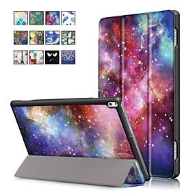 cheap Other Case-Case For Lenovo Lenovo Tab 4 10 Plus / Lenovo Tab 4 10 with Stand / Magnetic Full Body Cases Oil Painting Hard PU Leather