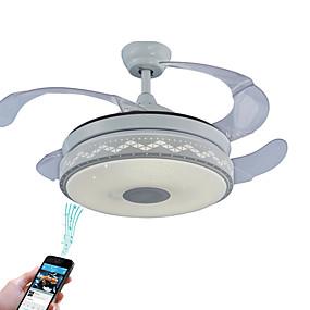 povoljno Lámpatestek-Ecolight™ Geometrijski oblici / Noviteti Stropni ventilator Ambient Light Electroplated Metal Prilagodljiv, WIFI kontrolu, Bluetooth kontrola 110-120V / 220-240V RGB Uključen je LED izvor svjetlosti