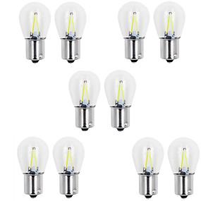 billige Billamper-10pcs BA15s (1156) / 1157 Bil Elpærer 2 W COB 150 lm 2 LED Blinklys Til General motors Alle år