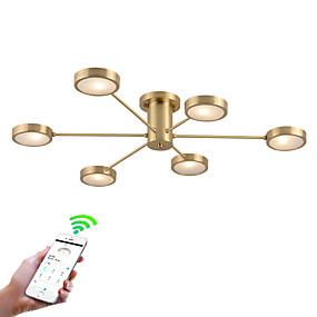 cheap Ceiling Lights & Fans-ZHISHU 6-Light 89 cm Creative / WIFI Control Flush Mount Lights Metal Sputnik Brass Contemporary / Nature Inspired 110-120V / 220-240V / G4