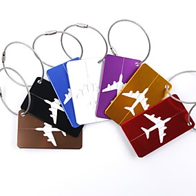 cheap Travel & Luggage Accessories-1pc Luggage Tag Luggage Accessory for Luggage Accessory Aluminium Alloy - Black / Red / Golden / White / Silver