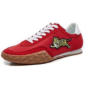 voordelige Damessneakers-Dames Sneakers Platte hak Ronde Teen Canvas Sportief / Studentikoos Lente & Herfst / Herfst Zwart / Rood