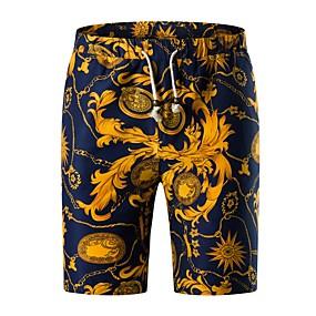 preiswerte 2019 Shorts-Herrn Grundlegend Übergrössen Alltag Wochenende Schlank Chinos / Kurze Hosen Hose - Geometrisch Frühling Sommer Marineblau XXXL XXXXL XXXXXL