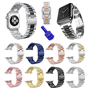 cheap Smartwatch Bands-Watch Band for Apple Watch Series 3 / 2 / 1 Apple Sport Band Stainless Steel Wrist Strap